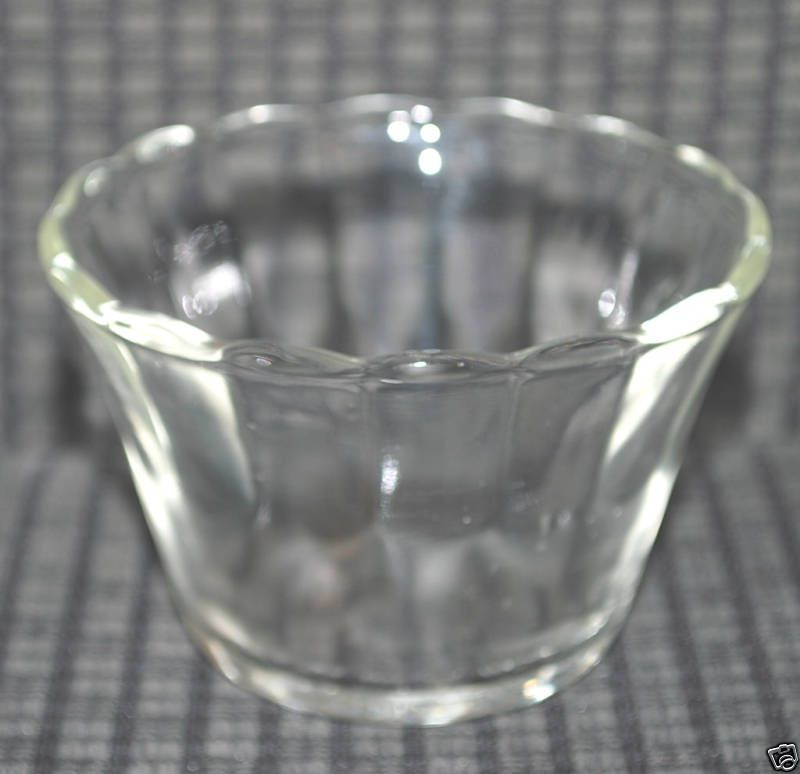Vintage Glassware Fire King Clear Glass Bowl Dish VTG